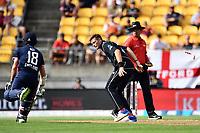 Blackcaps bowler runs out England's Moeen Ali during the Third ODI game between Black Caps v England, Westpac Stadium, Wellington, Saturday 03rd March 2018. Copyright Photo: Raghavan Venugopal / © www.Photosport.nz 2018