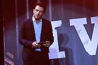 SÃO PAULO, SP, 04.05.2015 - FUTEBOL-SÃO PAULO - O ator Rodrigo Lombadi durante a apresentação do novo uniforme do  São Paulo Futebol Clube com patrocinio da empresa de artigos esportivos Under Armour  no Estádio do Morumbi na noite desta segunda-feira, 04. (Foto: Vanessa Carvalho / Brazil Photo Press)