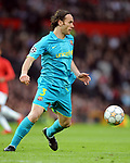 Gabriel Milito of Barcelona during the Champions League semi-final 2nd leg match at Old Trafford, Manchester. Picture date 29th April 2008. Picture credit should read: Simon Bellis/Sportimage