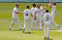 Essex players celebrate taking the wicket of Daniel bell-Drummond during Kent CCC vs Essex CCC, Friendly Match Cricket at The Spitfire Ground on 27th July 2020