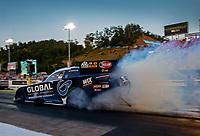 Jun 15, 2018; Bristol, TN, USA; NHRA funny car driver Shawn Langdon during qualifying for the Thunder Valley Nationals at Bristol Dragway. Mandatory Credit: Mark J. Rebilas-USA TODAY Sports