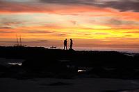 children on beach, Tamarindo beach Sunset Costa Rica, Pacific Ocean