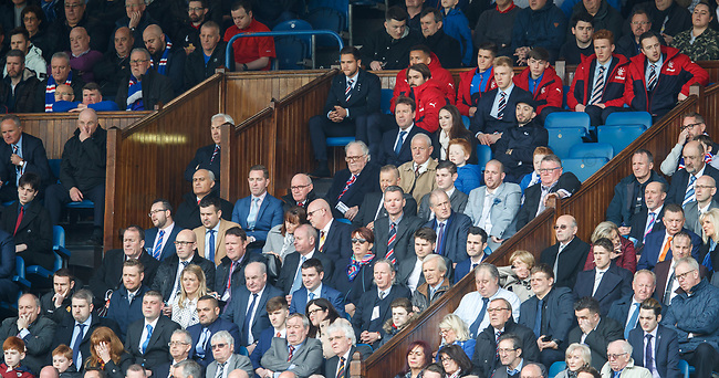 Billy Gilmour watching from the Rangers directors box