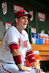3 July 2009: Washington Nationals' outfielder Josh Willingham sits in the dugout prior to facing the Atlanta Braves at Nationals Park in Washington, DC. The Braves defeated the Nationals 9-8 to take the first game of the 3-game weekend series. Mandatory Credit: Ed Wolfstein Photo