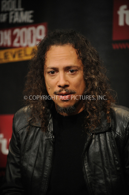 WWW.ACEPIXS.COM . . . . . ....January 14 2009, New York City....Rock & Roll Hall of Fame inductee Kirk Hammett of the band Metallica at the Rock & Roll Hall of Fame 2009 inductee announcement at Fuse Studios on January 14, 2009 in New York City.....Please byline: KRISTIN CALLAHAN - ACEPIXS.COM.. . . . . . ..Ace Pictures, Inc:  ..tel: (212) 243 8787 or (646) 769 0430..e-mail: info@acepixs.com..web: http://www.acepixs.com