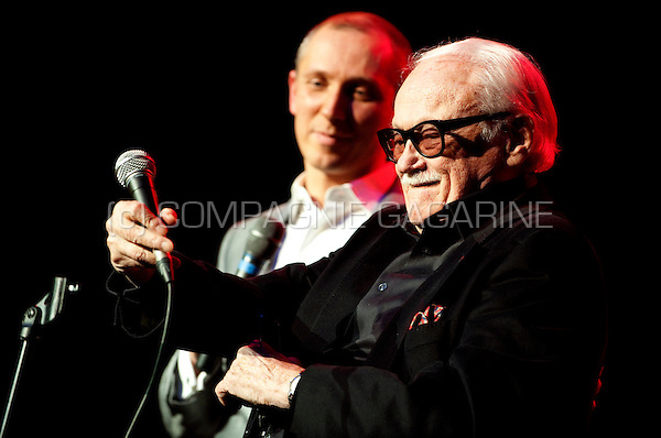 Helmut Lotti and Toots Thielemans at the Haiti Lavi 12-12 benefit concert in the Bozar, Brussels (Belgium, 15/02/2010)