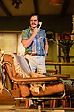 "London, UK. 29.11.2018. The first UK production, since the death of playwright Sam Shepard's play ""True West"", opens at the Vaudeville Theatre, directed by Matthew Dunster. Kit Harington and Johnny Flynn star, as brothers Austin and Lee, with Madeleine Potter and Donald Sage Mackay completing the cast. Picture shows: Kit Harington (Austin). Photograph © Jane Hobson."