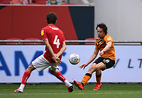8th July 2020; Ashton Gate Stadium, Bristol, England; English Football League Championship Football, Bristol City versus Hull City; George Honeyman of Hull City plays the ball into the penalty area under pressure from Adam Nagy of Bristol City