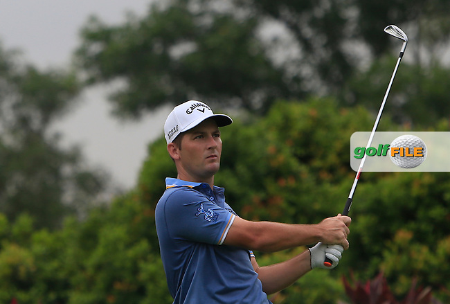 Matt Every (USA) on the 4th tee during Round 3 of the CIMB Classic in the Kuala Lumpur Golf &amp; Country Club on Saturday 1st November 2014.<br /> Picture:  Thos Caffrey / www.golffile.ie