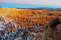Sunrise view from Bryce Point. Bryce Canyon National Park, Utah
