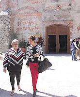Paquita la del Barrio visito el rancho y centro Fox donde tuvo una comida con el ex presidente de Mexico Vicente Fox y su esposa Marta Sahag&uacute;n durante su visita a la ciudad de Leon , Guanajuato el 15 de Enero del 2014..<br /> (*Foto:TiradorTercero/NortePhoto*)