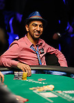 Pokerstars.net sponsored player Faraz Jaka smiles when he sees his pocket 10's are ahead of Corkin's pocket 7's.