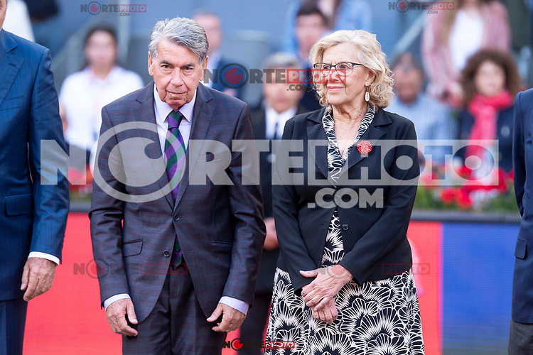 Manolo Santana and Manuela Carmena during Finals of Mutua Madrid Open at Caja Magica in Madrid, Spain. May 13, 2018. (ALTERPHOTOS/Borja B.Hojas)
