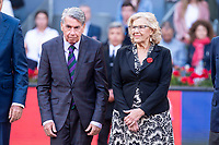 Manolo Santana and Manuela Carmena during Finals of Mutua Madrid Open at Caja Magica in Madrid, Spain. May 13, 2018. (ALTERPHOTOS/Borja B.Hojas)