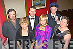 The Island players cast on the set of their new play Rumour's by Neil Simon which they will be performing in the Ivy Leaf Castleisland this weekend front row l-r: Redmond Roche, Marie Walsh, Tommy Martin, Jean Horgan, Joe Martin and Caroline Healy-O'Connor