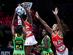 29/10/17 Fast5 2017<br /> Fast 5 Netball World Series<br /> Hisense Arena Melbourne<br /> Grand Final Jamaica v England<br /> <br /> Ama Agbeze <br /> <br /> <br /> <br /> <br /> Photo: Grant Treeby