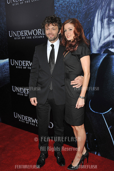 "Michael Sheen & Lorraine Stewart at the world premiere of his new movie ""Underworld: Rise of the Lycans"" at the Arclight Theatre, Hollywood..January 22, 2009  Los Angeles, CA.Picture: Paul Smith / Featureflash"