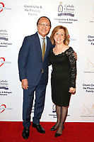 BURBANK - APR 27: Nam Loc Nguyen, Sona Agazarian at the Faith, Hope and Charity Gala hosted by Catholic Charities of Los Angeles at De Luxe Banquet Hall on April 27, 2019 in Burbank, CA