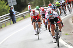 Sergio Luis Henao Montoya (COL) UAE Team Emirates descends during Stage 13 of La Vuelta 2019 running 166.4km from Bilbao to Los Machucos, Spain. 6th September 2019.<br /> Picture: Luis Angel Gomez/Photogomezsport | Cyclefile<br /> <br /> All photos usage must carry mandatory copyright credit (© Cyclefile | Luis Angel Gomez/Photogomezsport)
