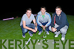 Playing around at the Deerpark Pitch and Putt in the Dark on Saturday night was l-r: Alan Kelly, Jamie Doolan and Philip O'Connor