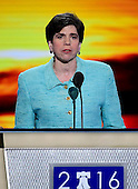 Rabbi Julie Schonfeld of White Plains, New York makes the closing prayer for the first session of the 2016 Democratic National Convention at the Wells Fargo Center in Philadelphia, Pennsylvania on Monday, July 25, 2016.<br /> Credit: Ron Sachs / CNP<br /> (RESTRICTION: NO New York or New Jersey Newspapers or newspapers within a 75 mile radius of New York City)