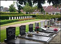 BNPS.co.uk (01202 558833)<br /> Pic: JoePinguey/BNPS.<br /> <br /> Winterswijk cemetery today.<br /> <br /> The tragic tale of downed RAF Lancaster bomb aimer and the heartwarming friendship which developed between the farmer who found his body and his grieving family can be told after his medals emerged for sale.<br /> <br /> Flying Officer Leslie Pulfrey, of 103 Sqn RAF Bomber Command was killed when his Lancaster was shot down by a Luftwaffe fighter over the Netherlands on the way back from a raid on a German oil refinery.<br /> <br /> His body was found on 16th June 1944 by a Dutch farmer Gerrit Van Eerden wrapped in an unopened parachute and with bullet wounds to his neck.<br /> <br /> Only one of the crew survived the crash and Pulfrey was laid to rest with five of his comrades in the local cemetery.<br /> <br /> Fly Off Pulfrey's nephew Joe Pinguey, 67, a retired motor mechanic from Penistone, south Yorkshire, is putting his medals on the market with Sheffield Auction Gallery for &pound;1,200.