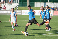 Kansas City, MO - Sunday May 07, 2017: Yael Averbuch during a regular season National Women's Soccer League (NWSL) match between FC Kansas City and the Orlando Pride at Children's Mercy Victory Field.
