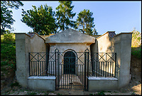 BNPS.co.uk (01202 558833)<br /> Pic: AlexanderBagnall/BNPS<br /> <br /> 2017 the Hope Mausoleum back in the land of the living...<br /> <br /> Back from the dead - Before and after photos show how a 19th century mausoleum was brought back from the underworld thanks to a life saving restoration. <br /> <br /> Hope Mausoleum in Dorking, Surrey, was erected as a stately tomb in 1818 but 60 years ago it fell into disrepair and became buried by soil. <br /> <br /> However, following the recent completion of an extensive restoration the Grade II listed building has been returned to its former glory. <br /> <br /> Proprietors Mole Valley District Council spearheaded the project after employee Alex Bagnall discovered the tip of the building while investigating the surrounding area. <br /> <br /> After securing a &pound;1m grant from the heritage lottery fund the project began, with architects, stonemasons, ground workers and volunteers all descending on the historic plot.
