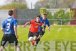 Dynamos v Athlone.Dynamos Captain Uros Ivkovic races for possession as Athlone's Sammy Moran chases