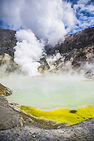 Acid Crater Lake, White Island Volcano, an active volcano in the Bay of Plenty, North Island, New Zealand