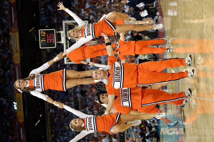 04 APR 2005:  Cheerleaders perform at the Final Four.  Ryan McKee/NCAA Photos