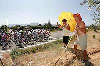 Some fans cheering the peloton of cyclists during the stage of La Vuelta 2012 between Logroño and Logroño.August 22,2012. (ALTERPHOTOS/Paola Otero) /NortePhoto.com<br /> <br /> **SOLO*VENTA*EN*MEXICO**<br /> **CREDITO*OBLIGATORIO**<br /> *No*Venta*A*Terceros*<br /> *No*Sale*So*third*<br /> *** No Se Permite Hacer Archivo**<br /> *No*Sale*So*third*