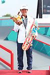 Kaya Isa (JPN), <br /> AUGUST 29, 2018 - Skateboarding : <br /> Women's Park  Medal ceremony<br /> at Jakabaring Sport Center Skatepark <br /> during the 2018 Jakarta Palembang Asian Games <br /> in Palembang, Indonesia. <br /> (Photo by Yohei Osada/AFLO SPORT)