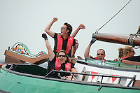 ZEILEN: SLEAT: Sleattemer Mar, 06-08-2014, IFKS Skûtsjesilen, Schipper Froukje Meijer skûtsje de Jonge Jasper (Franeker), ©foto Martin de Jong