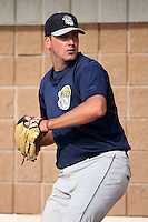 August 23 2008:  Pitcher Mike McGuire of the Mahoning Valley Scrappers, Class-A affiliate of the Cleveland Indians, during a game at Dwyer Stadium in Batavia, NY.  Photo by:  Mike Janes/Four Seam Images