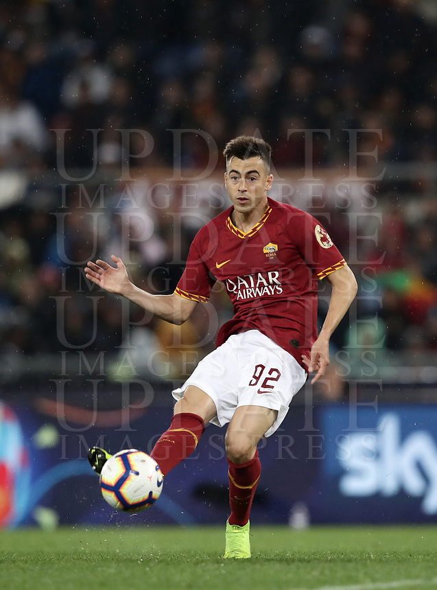 Football, Serie A: AS Roma - Parma, Olympic stadium, Rome, May 26, 2019. <br /> Roma's Stephan El Shaarawy in action during the Italian Serie A football match between Roma and Parma at Olympic stadium in Rome, on May 26, 2019.<br /> UPDATE IMAGES PRESS/Isabella Bonotto