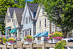 Quaint shops in Blue Hill, Maine, USA