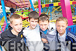 THRILLS: Getting their thrills at the Birds Funfair at the weekend were l-r: Eric Tehan, William Hurley, George Carnegie and Roman Laucher, Tralee.   Copyright Kerry's Eye 2008