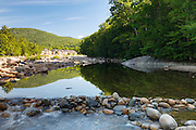 Small swimming hole along the East Branch of the Pemigewasset River in Lincoln, New Hampshire USA during the summer months. This location is on the side of the J.E Henry Trail.