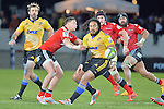 NELSON, NEW ZEALAND - MAY 29:  round 16 Super 15 Rugby match between the Crusaders and the Hurricanes at Trafalgar Park on May 29, 2015 in Nelson, New Zealand.. (Photo Barry Whitnall/Shuttersport Limited/Getty Images)