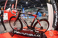VALENCIA, SPAIN - NOVEMBER 7: Pinarello dogma during DOS RODES at Feria Valencia on November 7, 2015 in Valencia, Spain