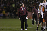 20 October 2005:  Virginia Tech coach Frank Beamer..The Virginia Tech Hokies defeated the Maryland Terrapins 28-9 at Byrd Stadium in College Park, MD.