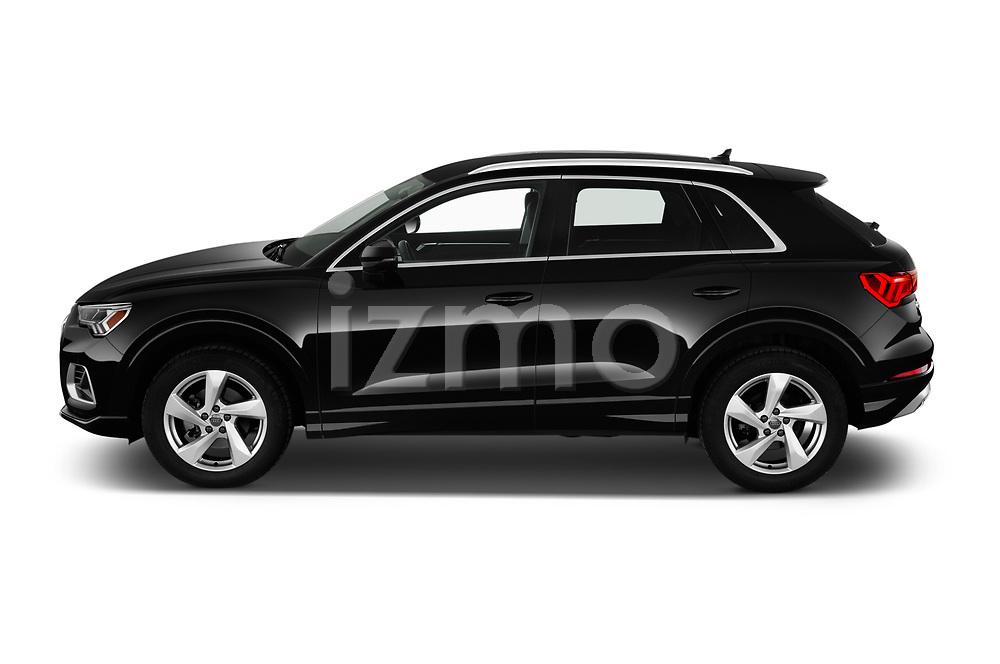 Car Driver side profile view of a 2019 Audi Q3 Premium-Plus 5 Door SUV Side View