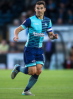 Matt Bloomfield of Wycombe Wanderers in action during the Sky Bet League 2 match between Wycombe Wanderers and Accrington Stanley at Adams Park, High Wycombe, England on 16 August 2016. Photo by Andy Rowland.