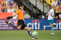 Hope Solo of Abby XI during the Women's Professional Soccer (WPS) All-Star Game at KSU Stadium in Kennesaw, GA, on June 30, 2010.