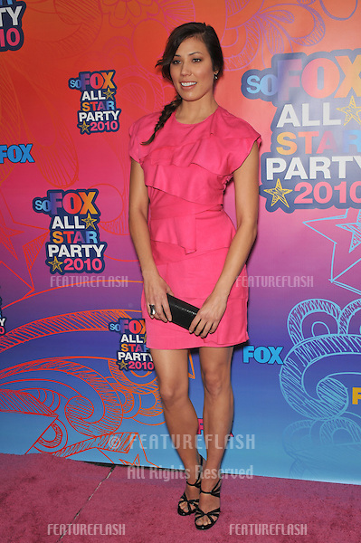 "Michaela Conlin - star of ""Bones"" - at Fox TV's All Star Party at Santa Monica Pier..August 2, 2010  Santa Monica, CA.Picture: Paul Smith / Featureflash"