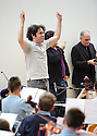 Gustavo Dudamel rehearses with the kids from the Raploch Orchestra ahead of Thursday night's concert ........