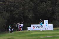 Adrian Meronk (POL) on the 4th tee during Round 3 of the Challenge Tour Grand Final 2019 at Club de Golf Alcanada, Port d'Alcúdia, Mallorca, Spain on Saturday 9th November 2019.<br /> Picture:  Thos Caffrey / Golffile<br /> <br /> All photo usage must carry mandatory copyright credit (© Golffile | Thos Caffrey)