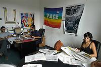 Roma, Via del Policlinico.La redazione del quotidiano Liberazione.Rome, Via del Policlinico.The daily newspaper Liberazione