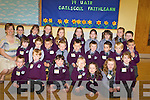 The 2008 junior infants pictured on their first day in Gaelscoil Faithlean in Killarney on Monday with muinteoir Karen Ui Churtain.   Copyright Kerry's Eye 2008
